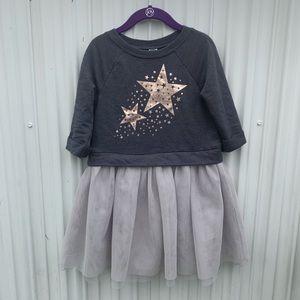 Old Navy Girl Casual Dress Gray Tulle Skirt ⭐️⭐️⭐️